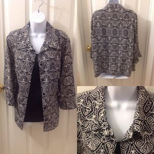 NWT Career Crinkle Twinset Blouse